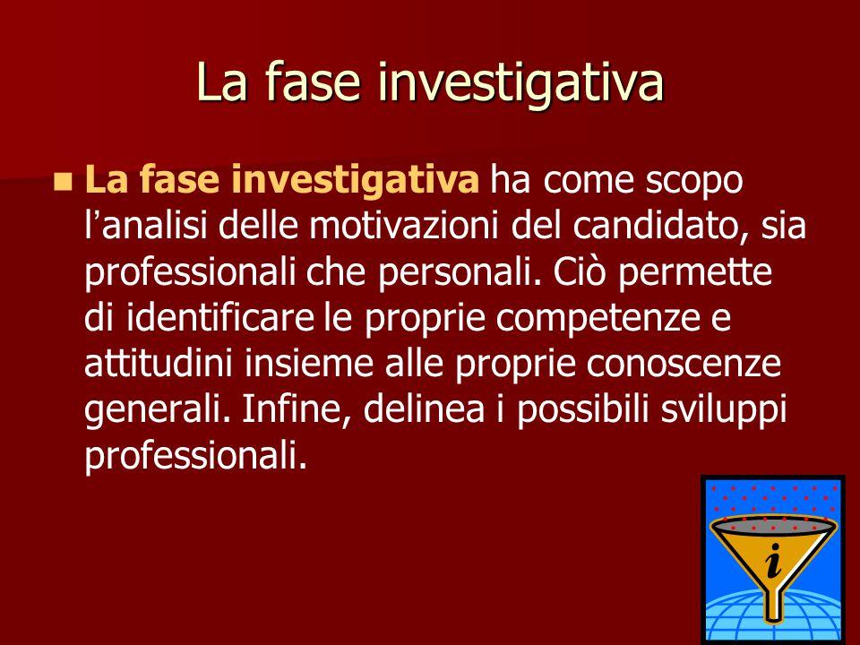 La fase investigativa