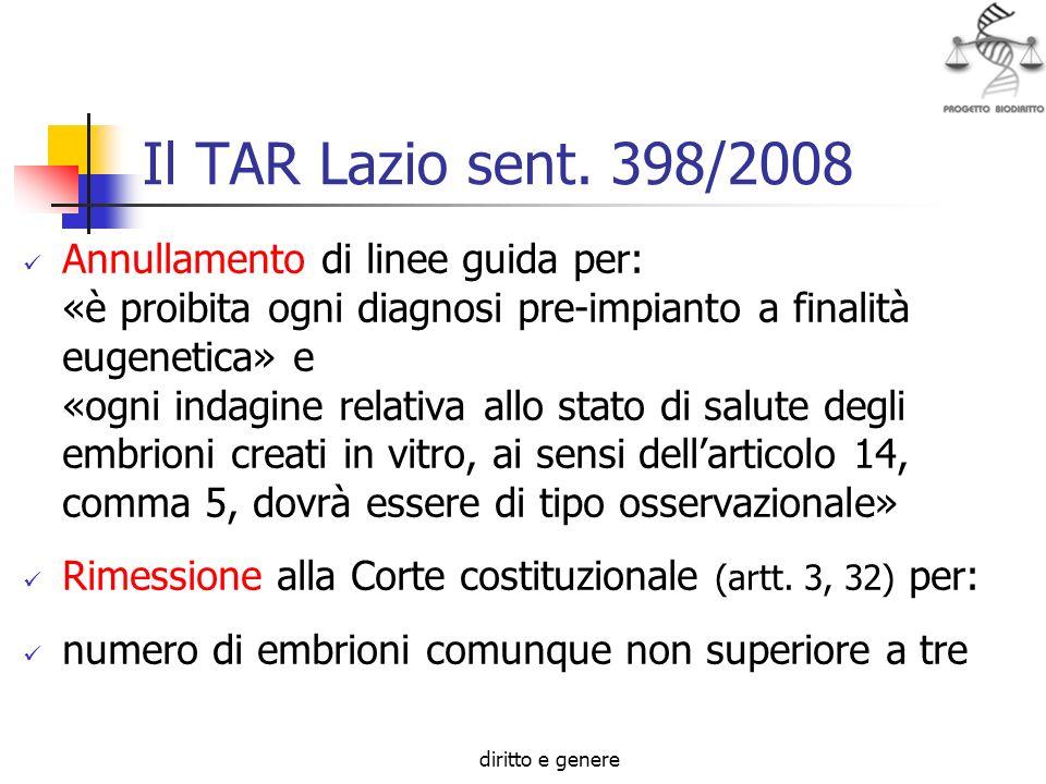 Il TAR Lazio sent. 398/2008