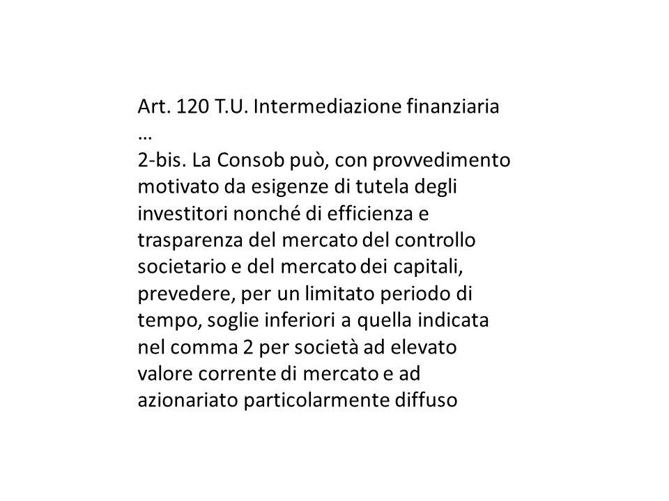 Art. 120 T.U. Intermediazione finanziaria