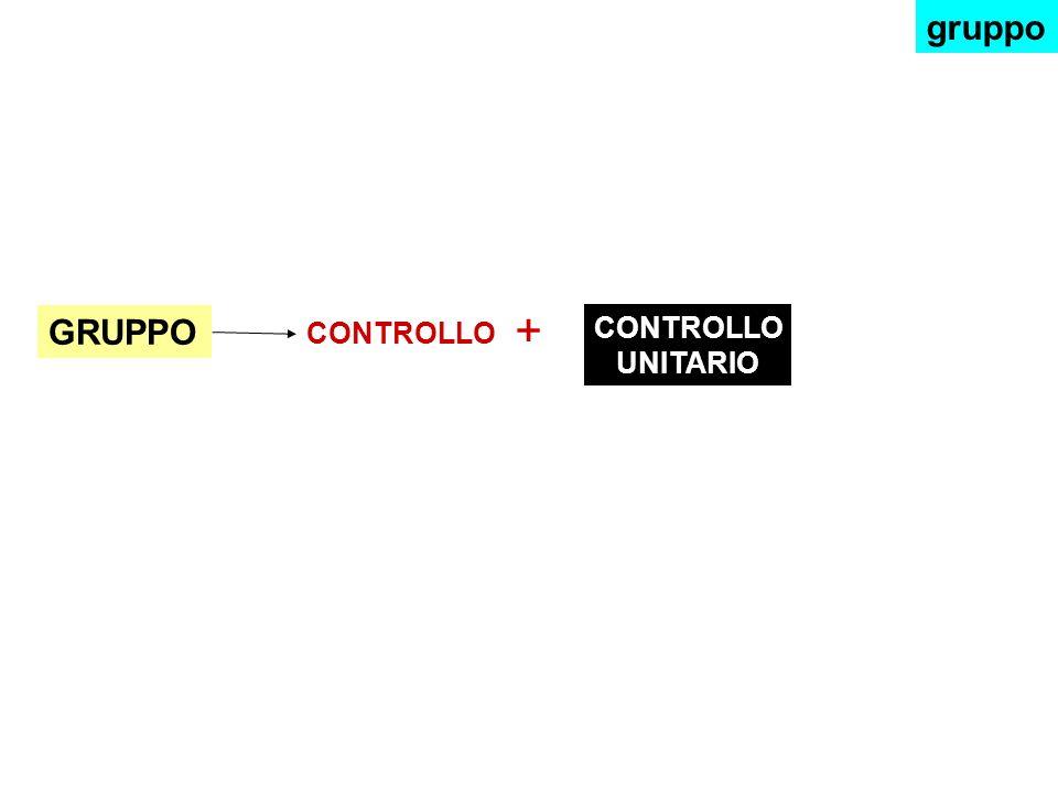 gruppo + GRUPPO CONTROLLO CONTROLLO UNITARIO