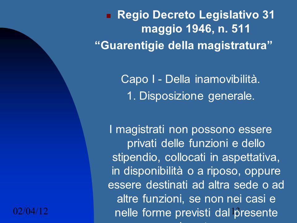 Regio Decreto Legislativo 31 maggio 1946, n. 511