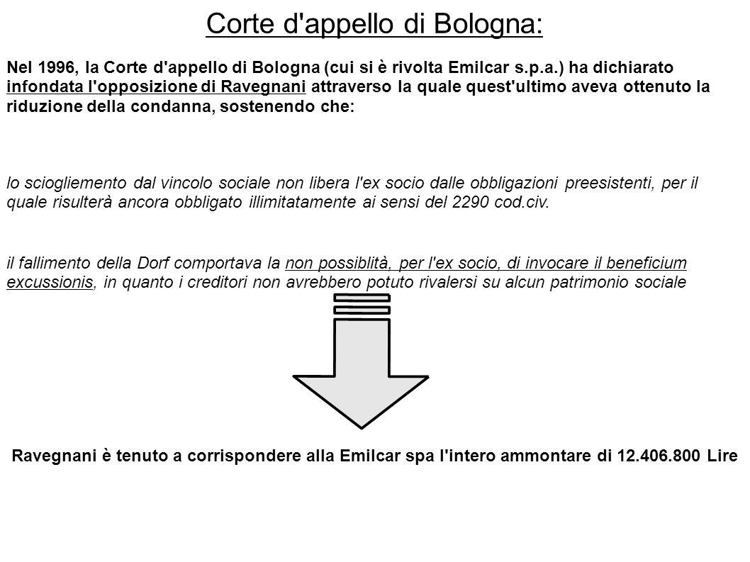 Corte d appello di Bologna: