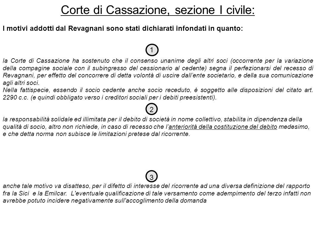 Corte di Cassazione, sezione I civile:
