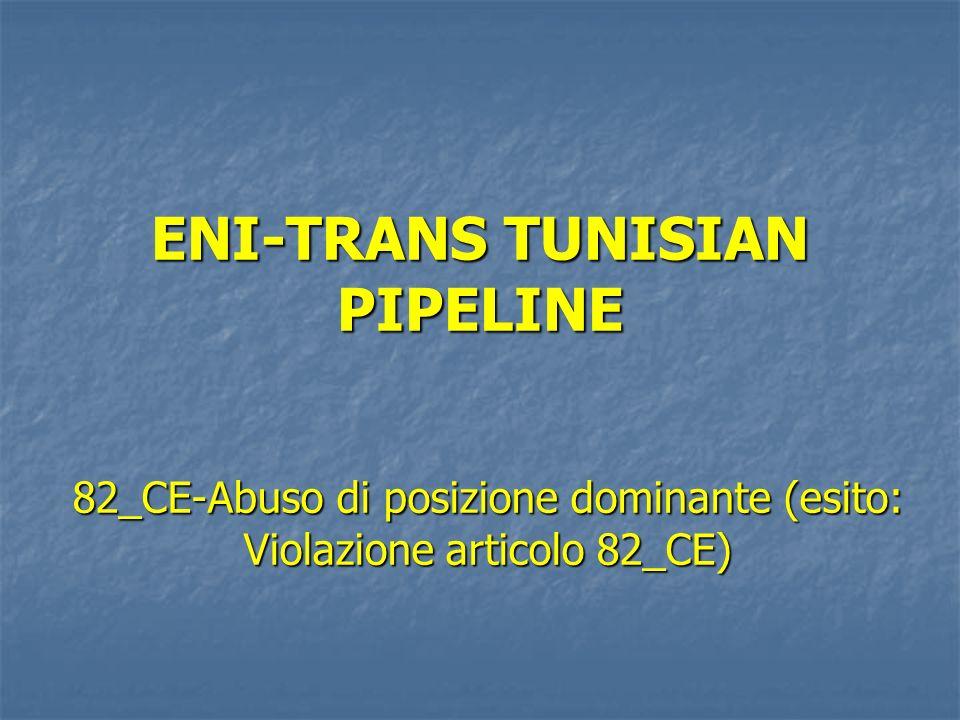 ENI-TRANS TUNISIAN PIPELINE