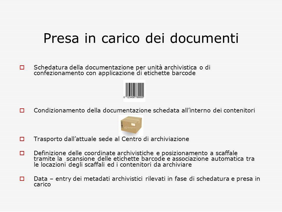 Presa in carico dei documenti