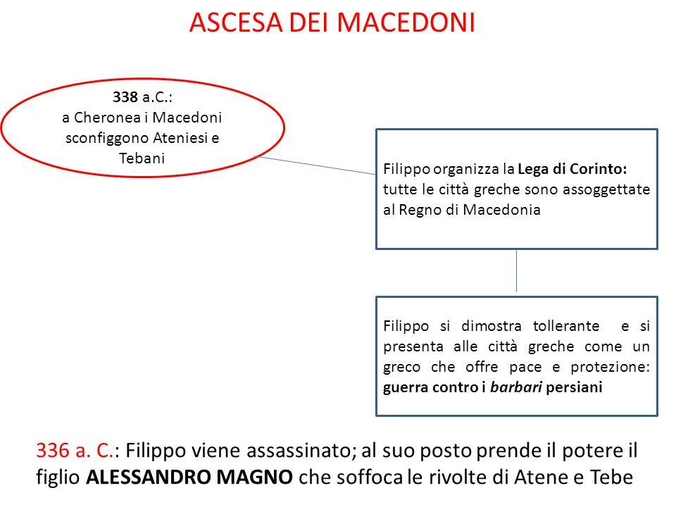 a Cheronea i Macedoni sconfiggono Ateniesi e Tebani