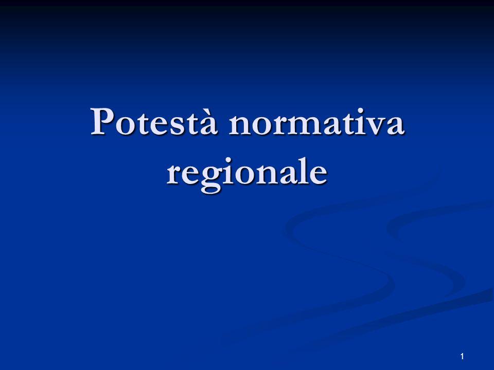 Potestà normativa regionale