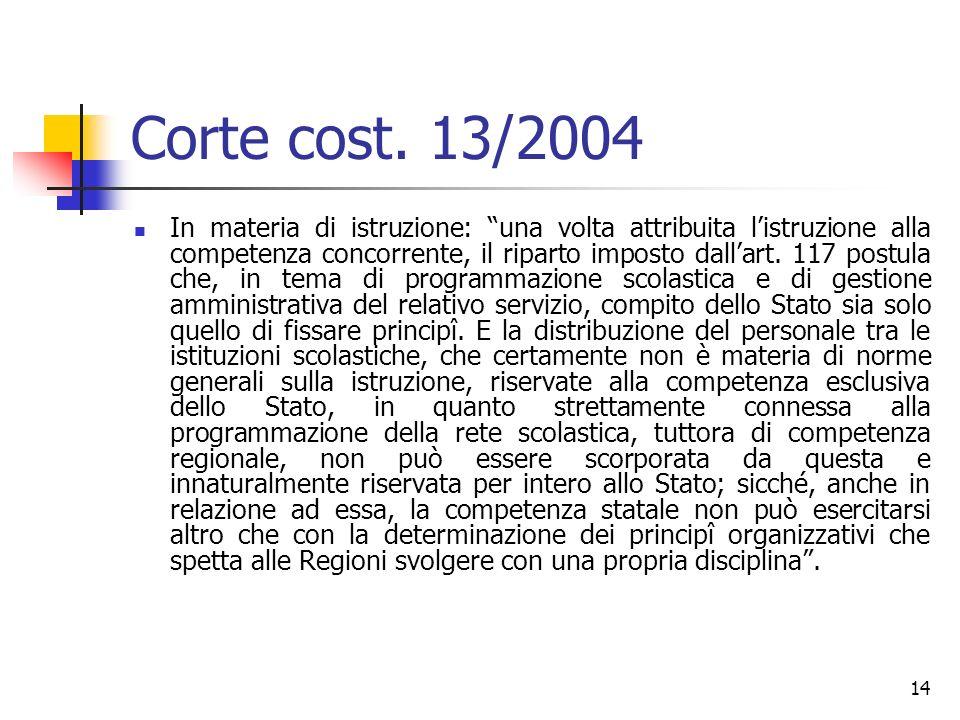 Corte cost. 13/2004