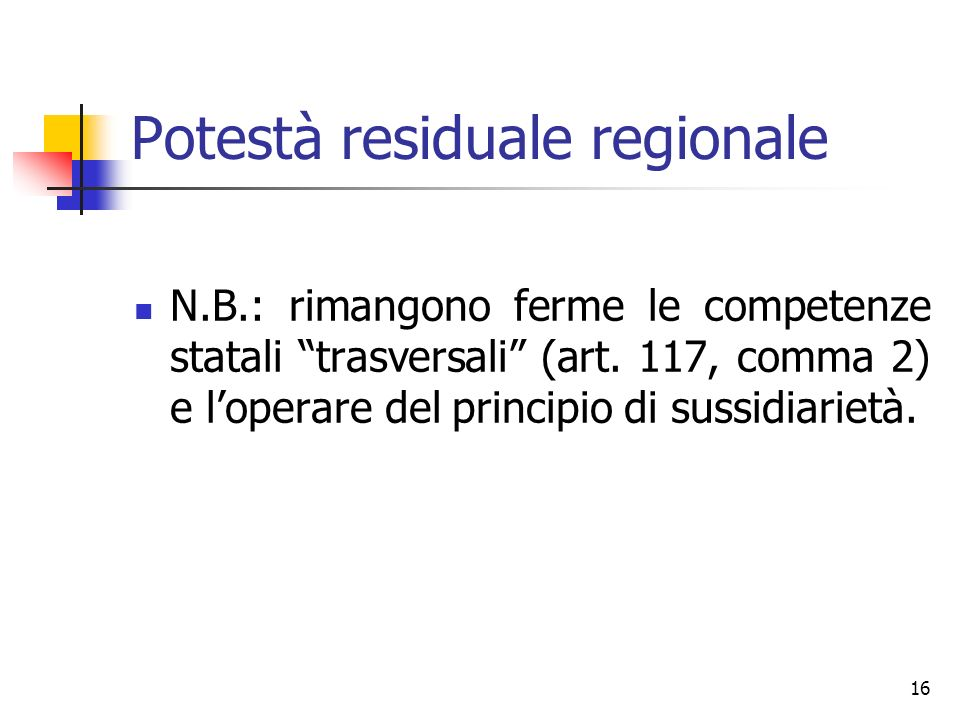Potestà residuale regionale