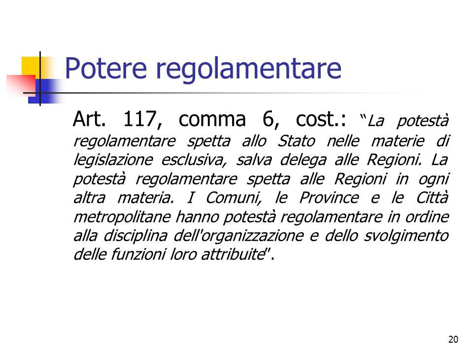 Potere regolamentare