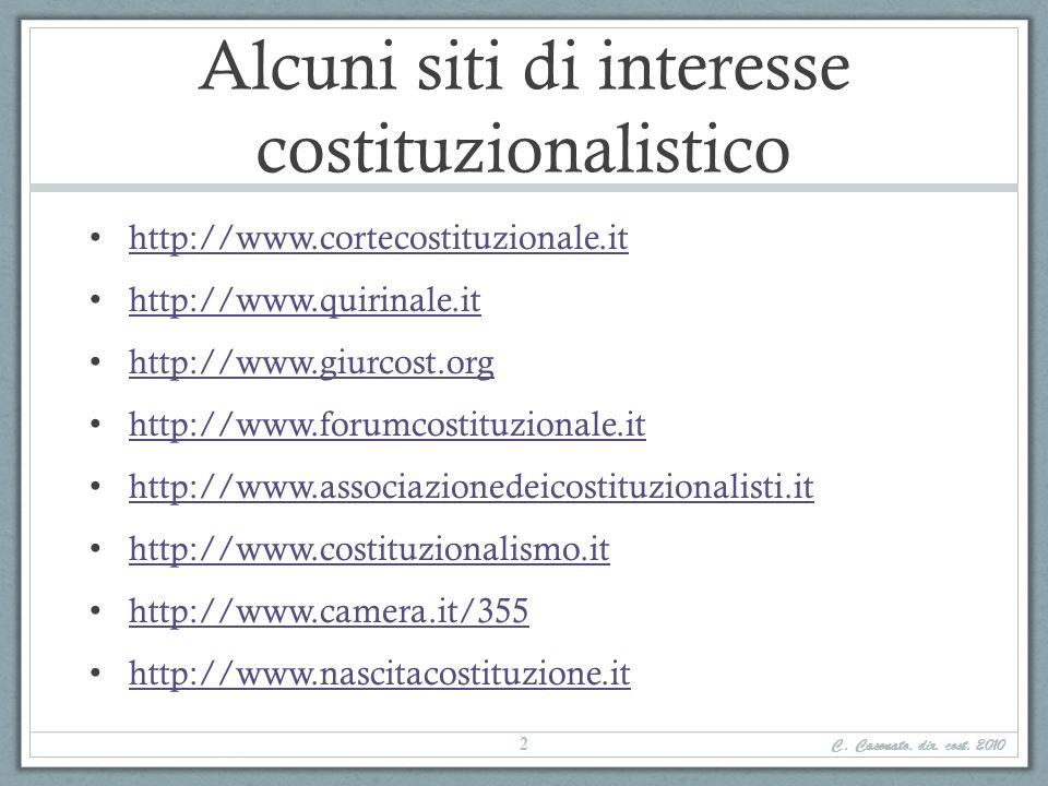 Alcuni siti di interesse costituzionalistico