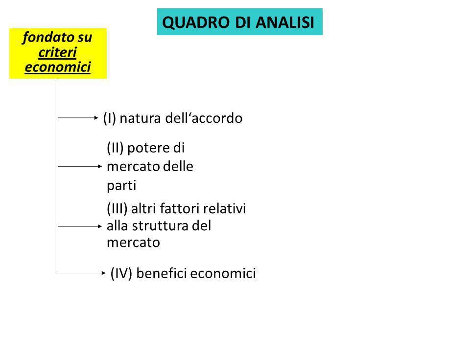 fondato su criteri economici