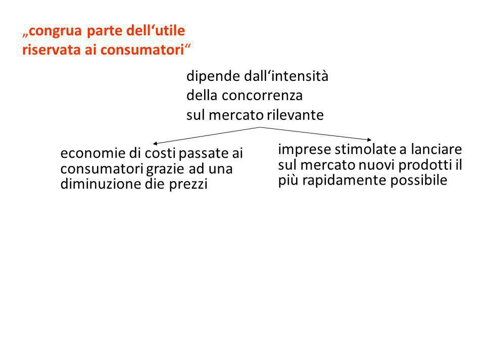 """""""congrua parte dell'utile riservata ai consumatori"""