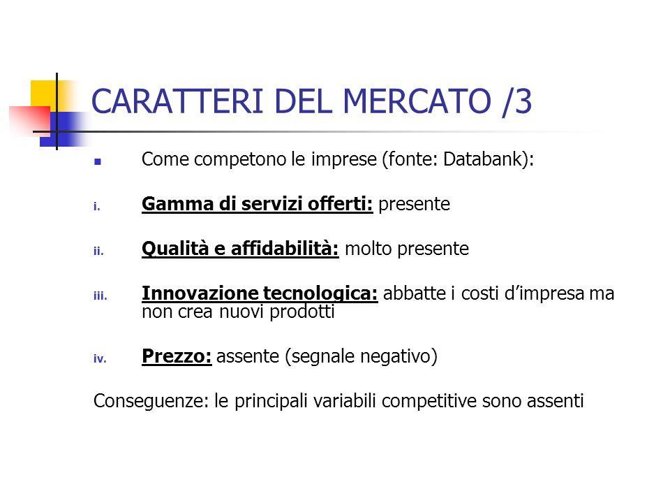 CARATTERI DEL MERCATO /3