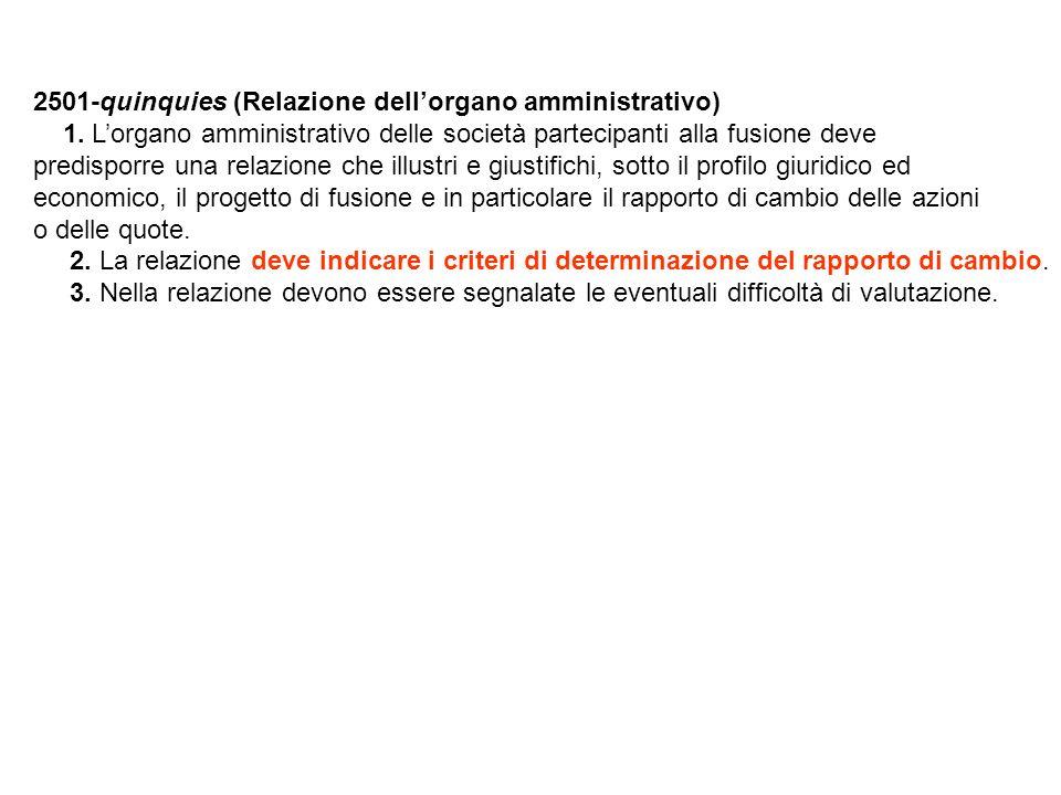 2501-quinquies (Relazione dell'organo amministrativo) 1