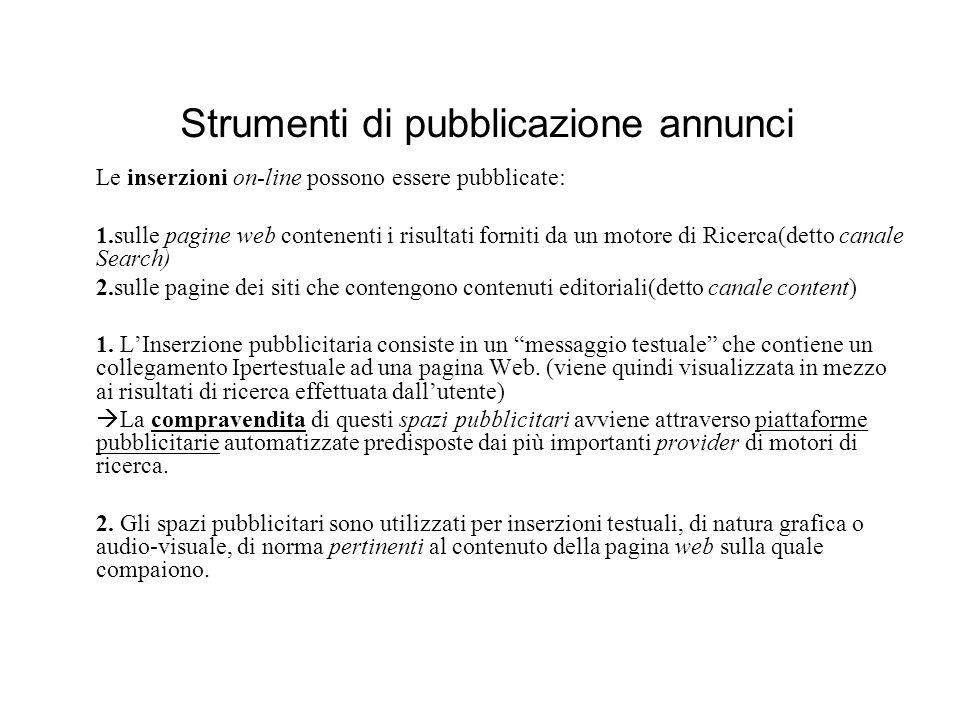 Strumenti di pubblicazione annunci
