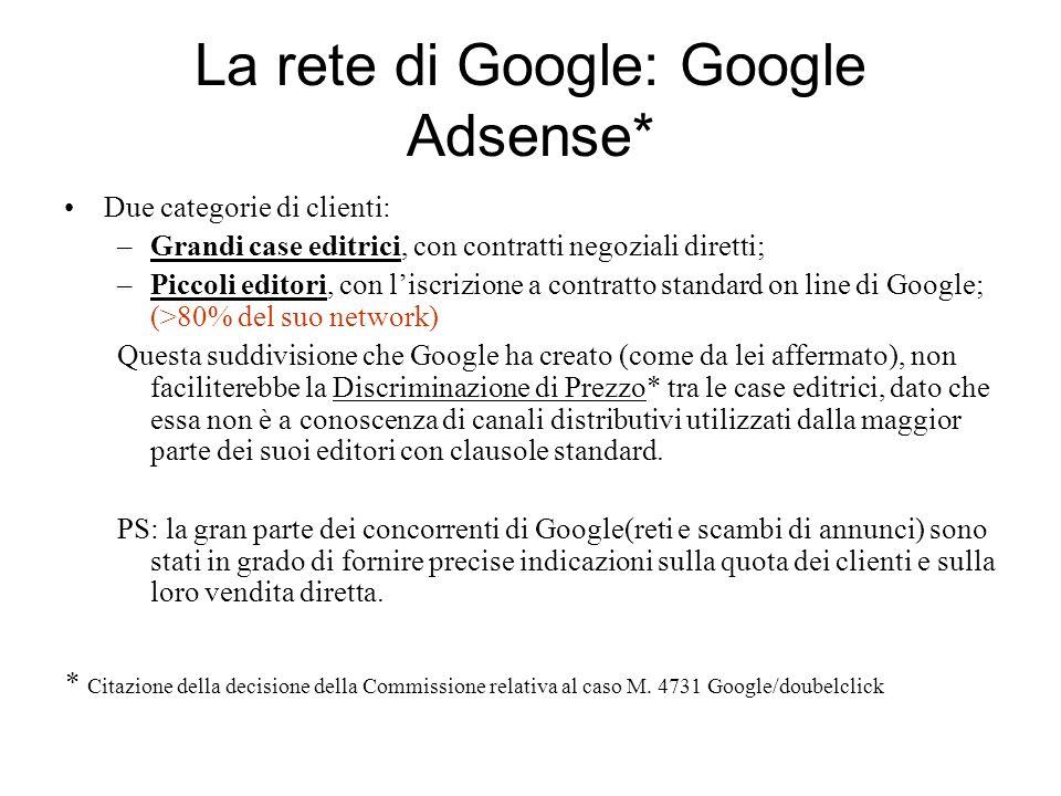 La rete di Google: Google Adsense*