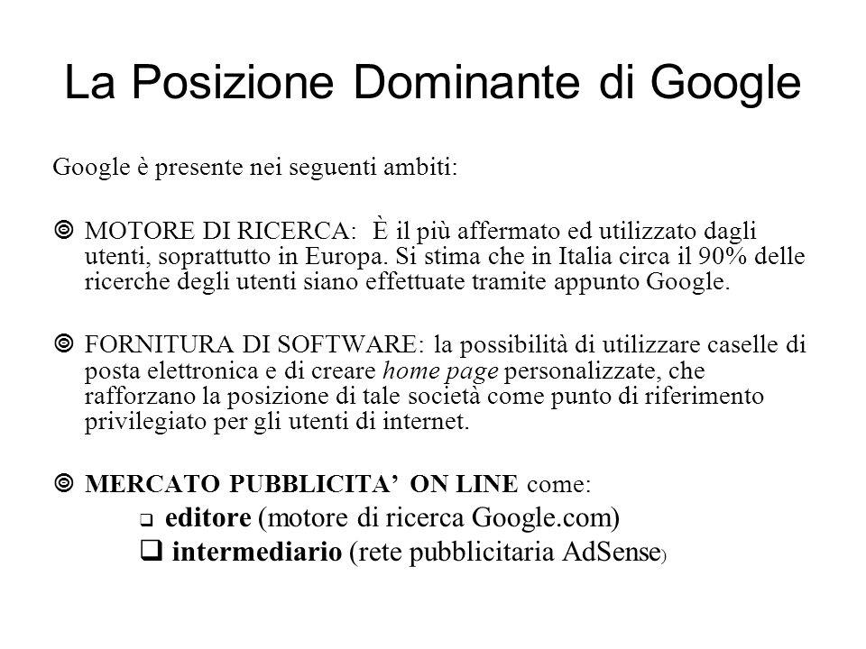 La Posizione Dominante di Google