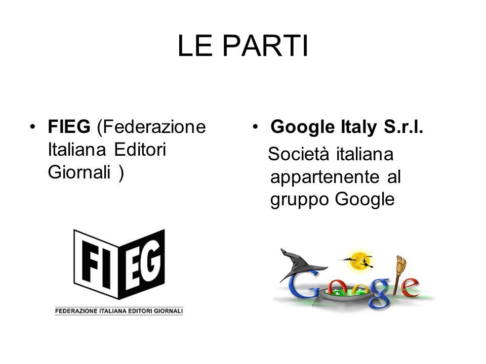 LE PARTI FIEG (Federazione Italiana Editori Giornali )