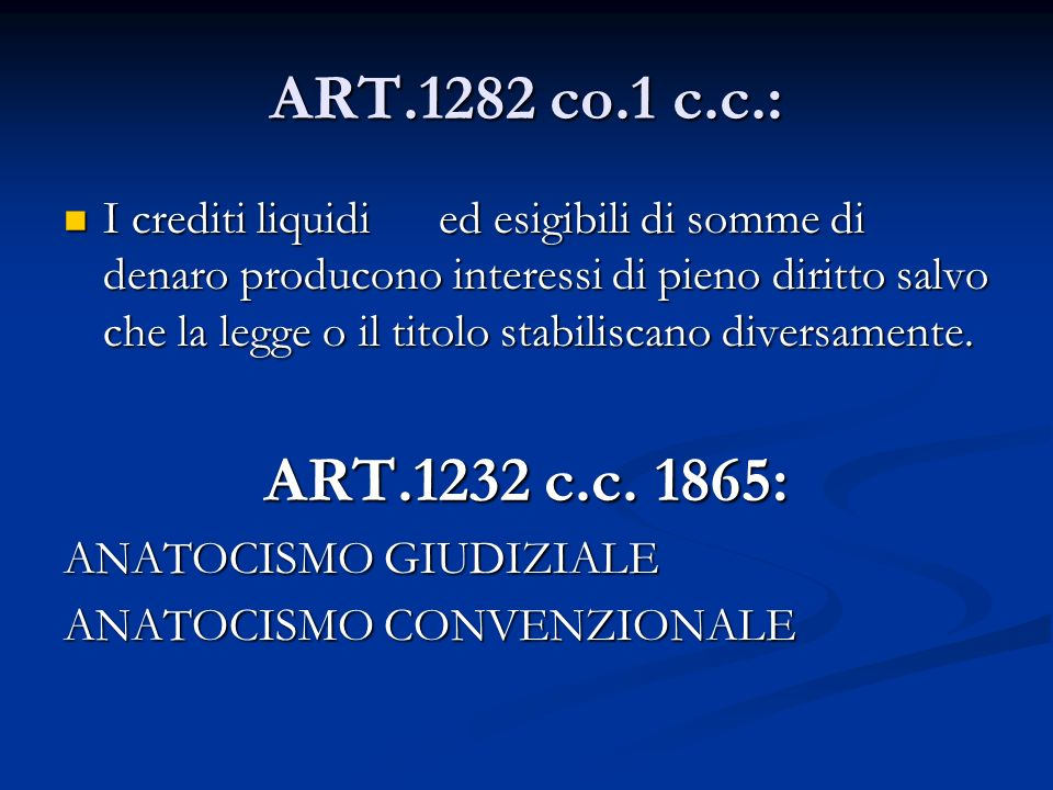 ART.1282 co.1 c.c.: