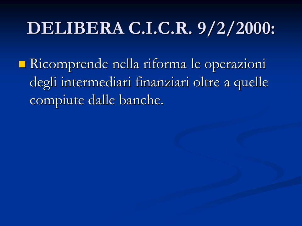 DELIBERA C.I.C.R.