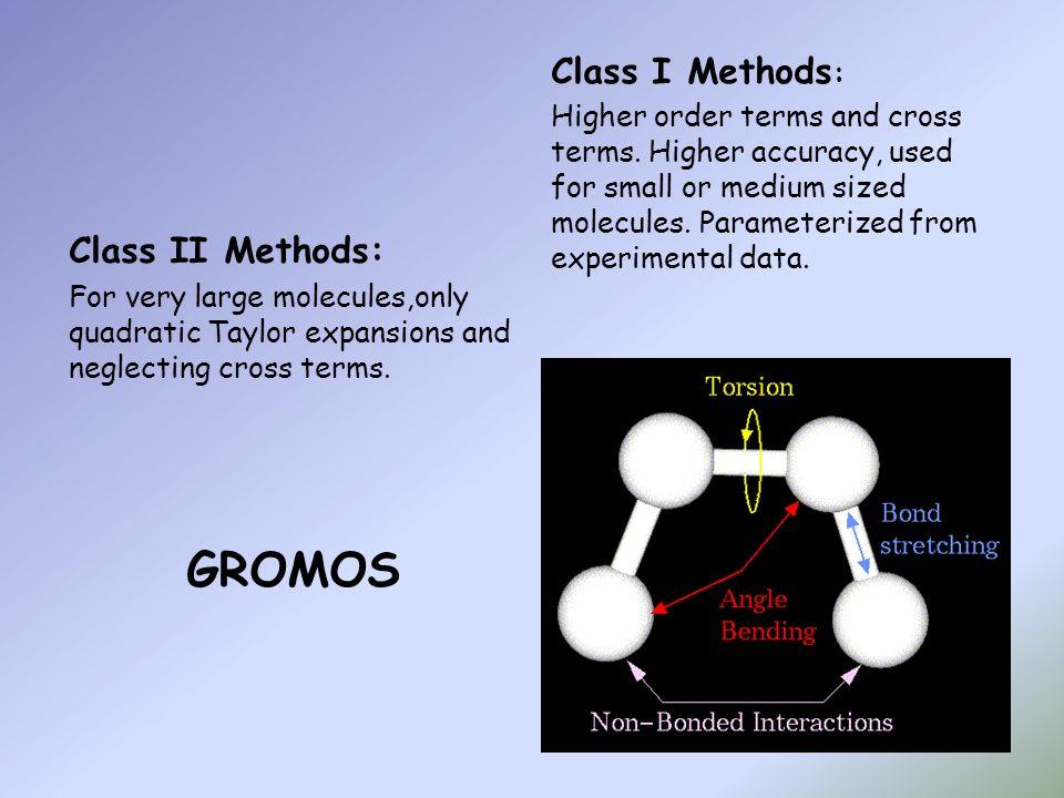 GROMOS Class I Methods: Class II Methods: