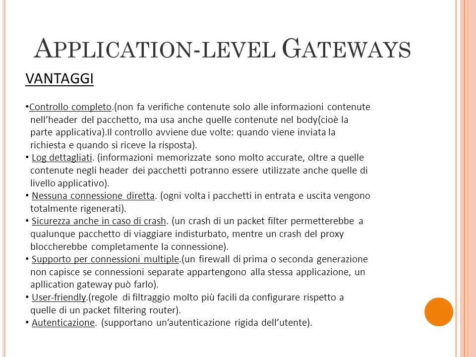 Application-level Gateways