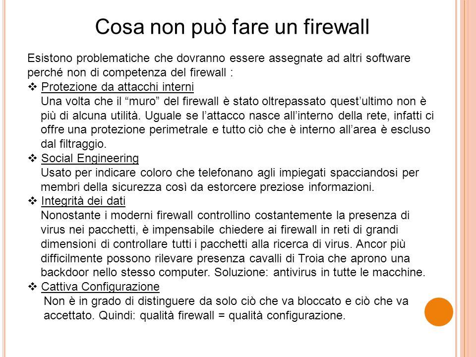 Cosa non può fare un firewall