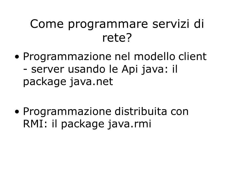 Come programmare servizi di rete