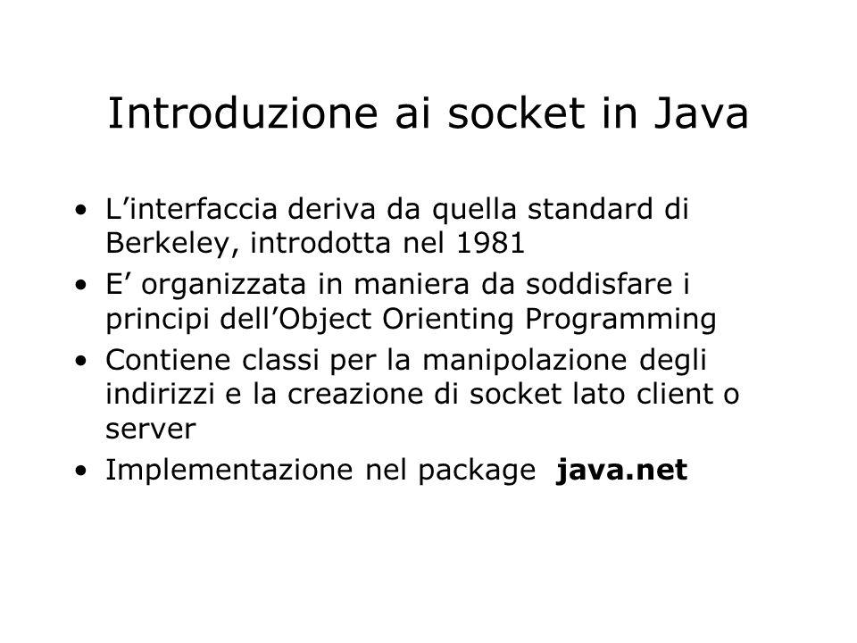 Introduzione ai socket in Java