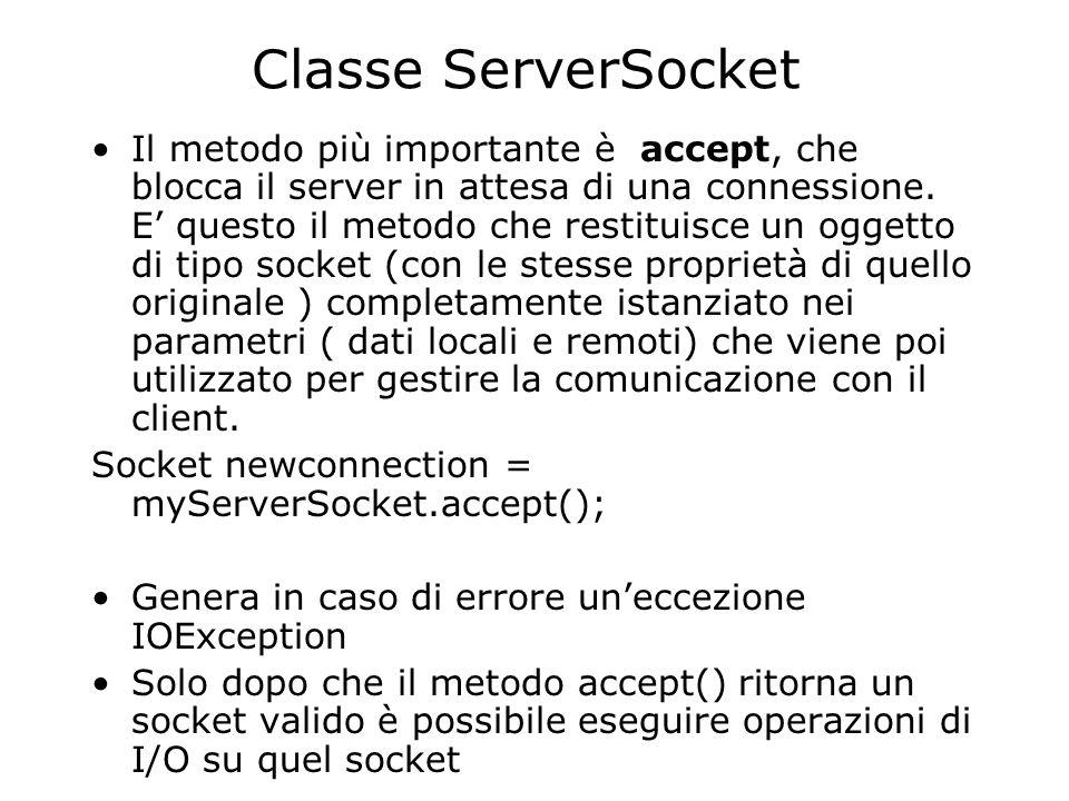 Classe ServerSocket