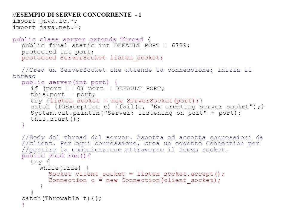 //ESEMPIO DI SERVER CONCORRENTE - 1