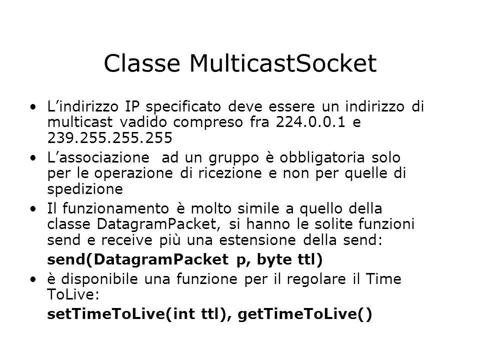 Classe MulticastSocket