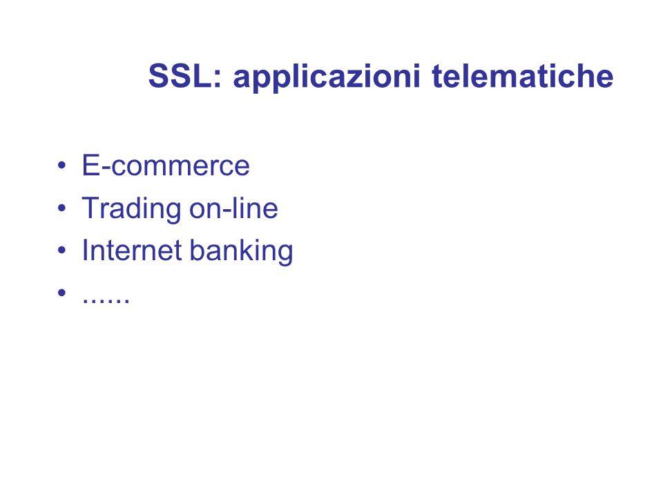 SSL: applicazioni telematiche