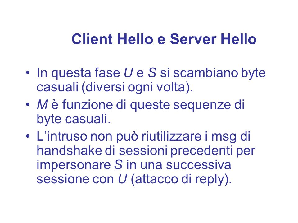 Client Hello e Server Hello