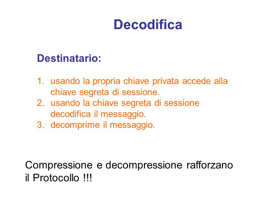 Decodifica Destinatario: