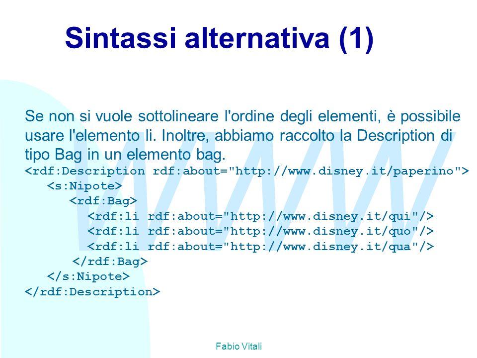 Sintassi alternativa (1)