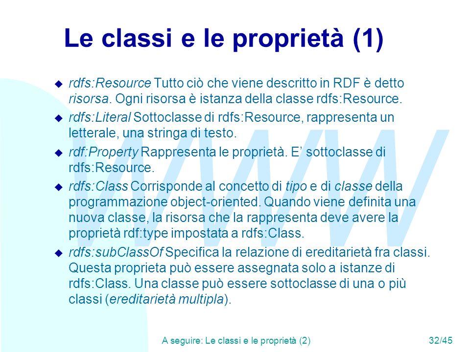 Le classi e le proprietà (1)