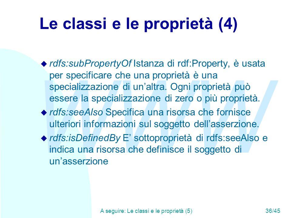 Le classi e le proprietà (4)