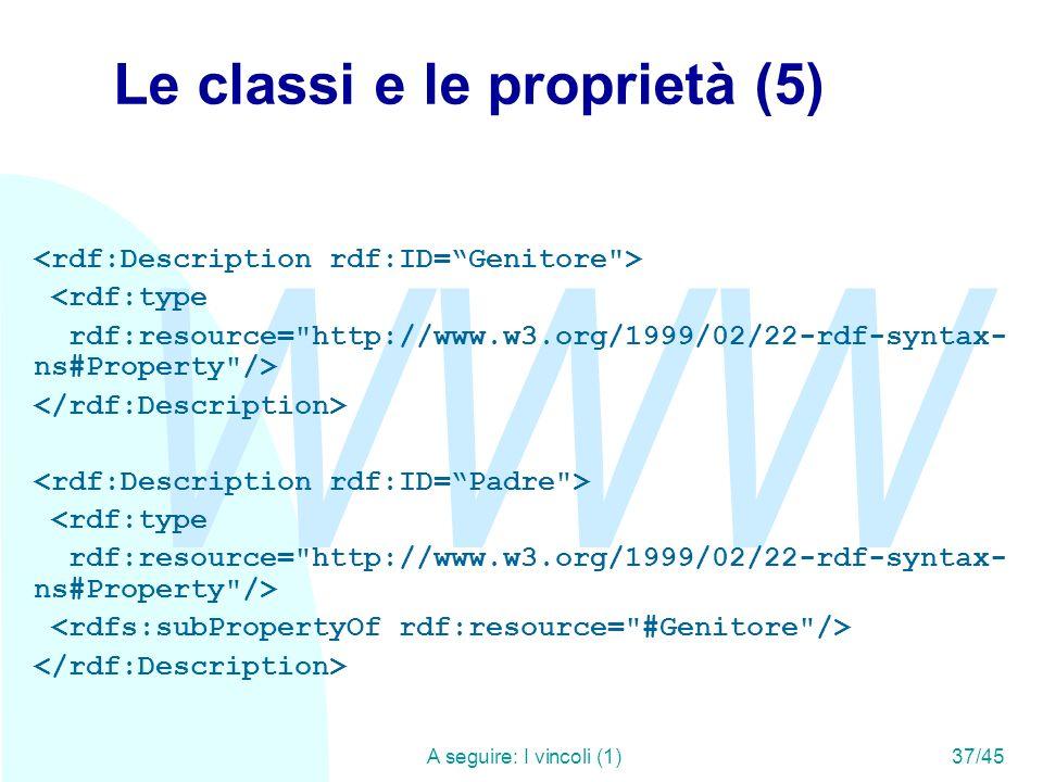 Le classi e le proprietà (5)