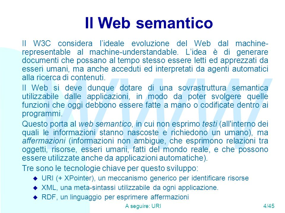 Il Web semantico