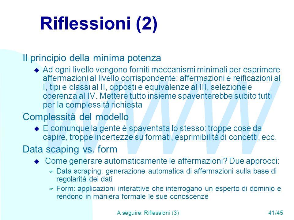 A seguire: Riflessioni (3) 41/45