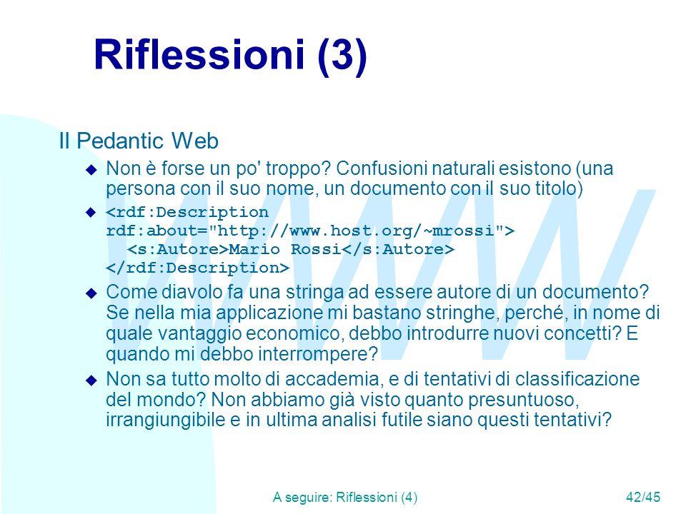 A seguire: Riflessioni (4) 42/45