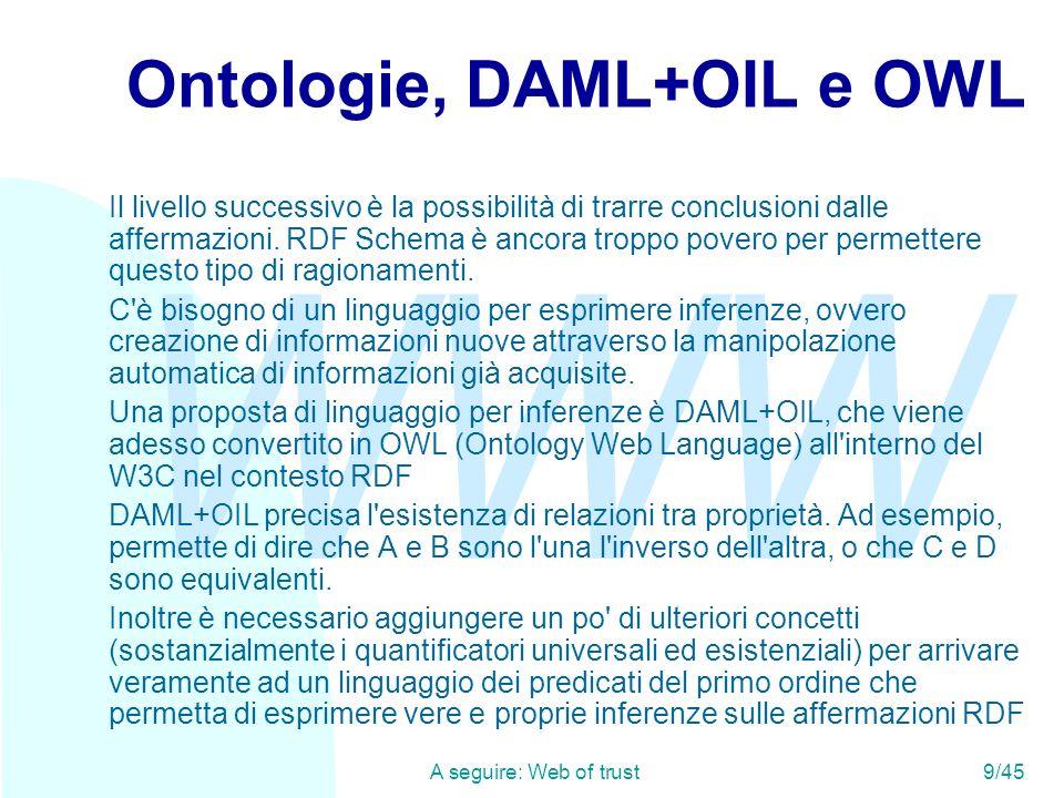 Ontologie, DAML+OIL e OWL