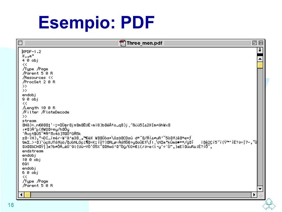 Esempio: PDF