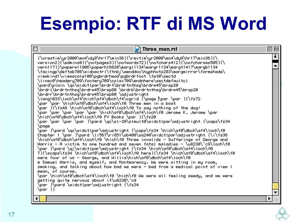 Esempio: RTF di MS Word