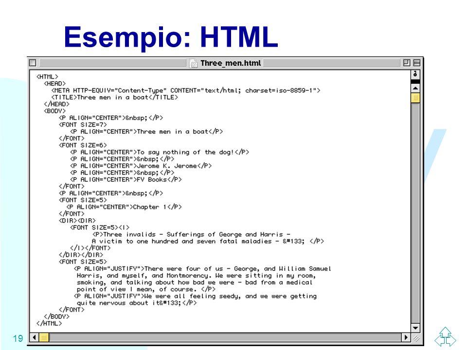 Esempio: HTML