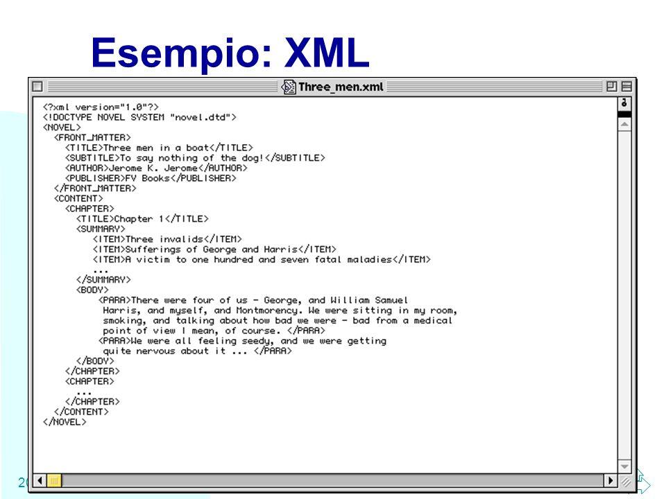 Esempio: XML