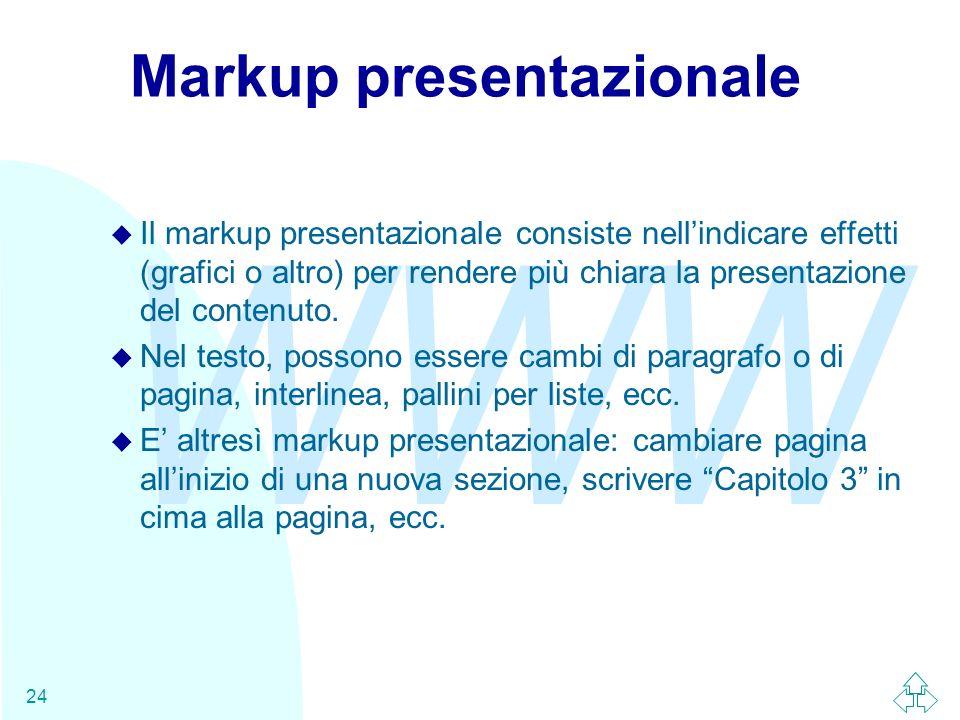 Markup presentazionale