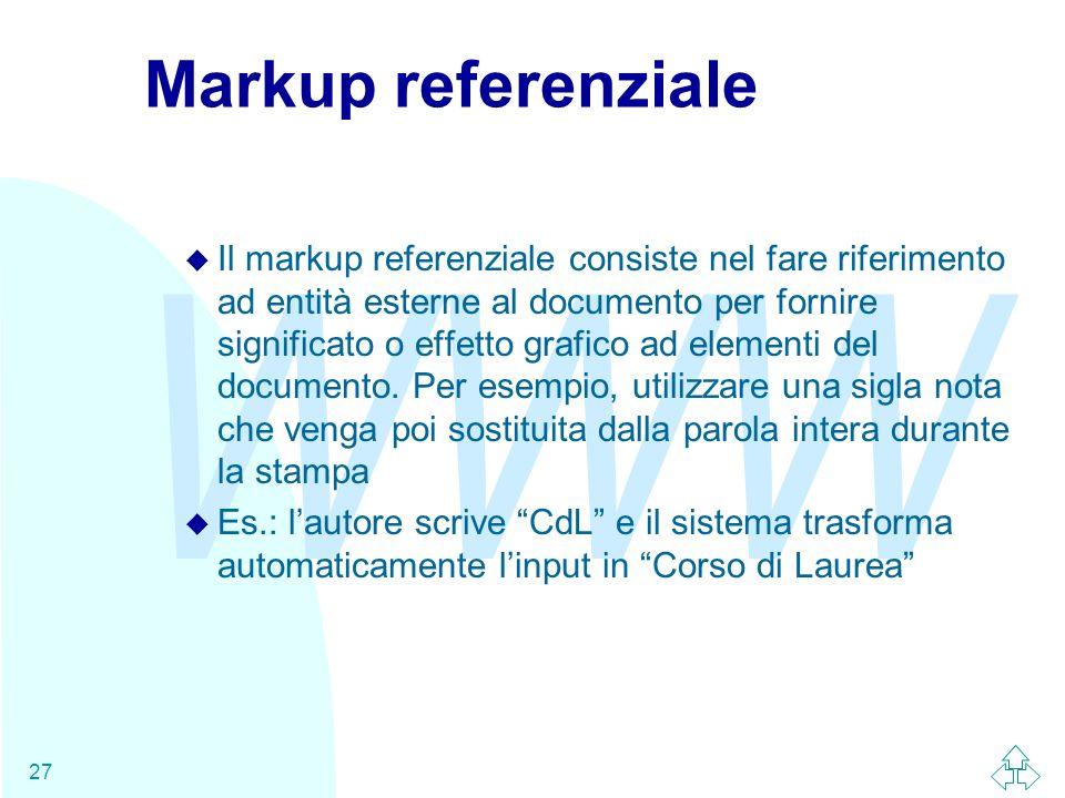 Markup referenziale